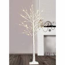 120cm Warm White LED Birch Twig Christmas Tree