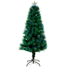 180cm Multi-Coloured LED Fibreoptic Pine Tree