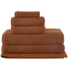 6 Piece Cinnamon Willow 600GSM Turkish Cotton Towel Set