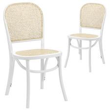 Luca Beech & Rattan Dining Chair (Set of 2)