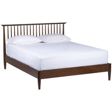 Queen Olsen Walnut Spindle Bed