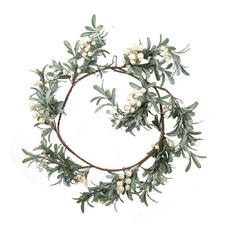 30cm White Berry Christmas Garland
