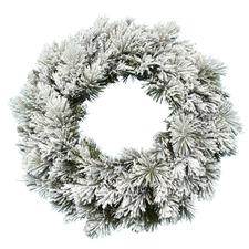 76cm Majestic Snow Flocked Wreath