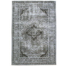 Steel Ruby Cotton Chenille Rug
