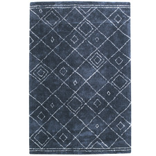 Navy Blue Siena Cotton Rug
