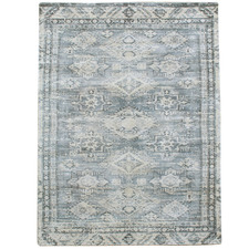 Blue Maiden Hand-Woven Rug