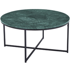 Green Siena Round Marble Coffee Table