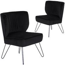 Westminster Velvet Slipper Chair (Set of 2)