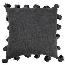 Charcoal Raffa Square Cotton Cushion