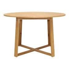 Olwen Oak Wood Round Dining Table