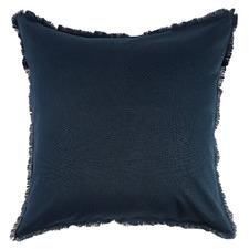 Navy Maia Fringed Cotton-Linen European Pillowcases (Set of 2)
