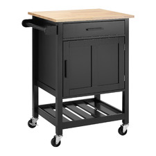Black Coco Compact Kitchen Cart Trolley