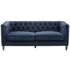 Navy Thiago 3 Seater Velvet Sofa