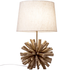 56cm Driftwood Ball Table Lamp