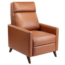 Tan Bauer Premium Faux Leather Recliner Chair