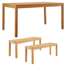 4 Seater Verona Wooden Outdoor Dining Table & Bench Set