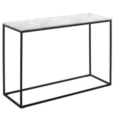 110cm White Serena Italian Carrara Marble Console Table