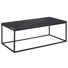 110cm Black Serena Marble Coffee Table