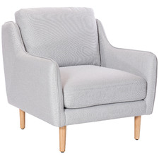 Light Grey Harrison Fabric Armchair