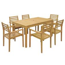6 Seater Verona Wooden Outdoor Dining Set