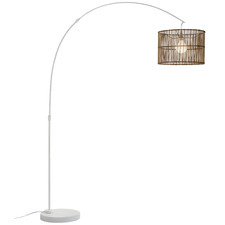 Arc Rattan Floor Lamp