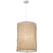 Atlas Jute 55cm Tall Pendant Light