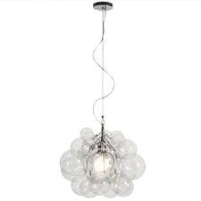 Bubble Glass 46cm Tall Pendant Light