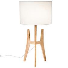 Brae Rubberwood Tripod Table Lamp