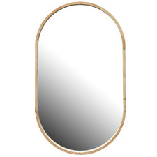 Tate Oval Wooden Framed Wall Mirror