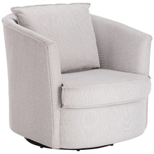 Light Grey Twisty Swivel Armchair