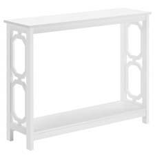 White Omega Console Table