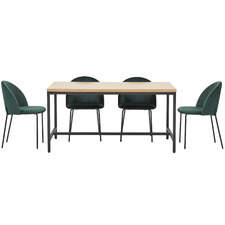 4 Seater Aria T-Bar Dining Set