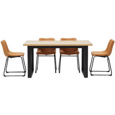 4 Seater Phoenix Ski-Leg Dining Set