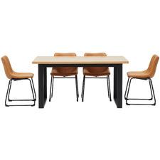 4 Seater Phoenix U-Shape Dining Set