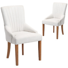 Cream Manor Scoop Back Dining Chairs (Set of 2)