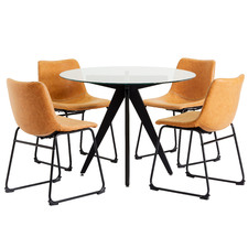 4 Seater Midnight Phoenix Dining Table & Chair Set