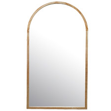 Tate Arched Wooden Framed Wall Mirror