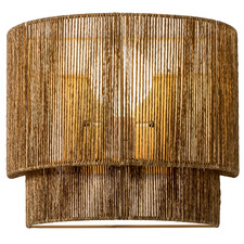 Porter Paper Rope & Steel Wall Sconce