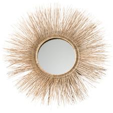 Halo Rattan & Metal Wall Mirror