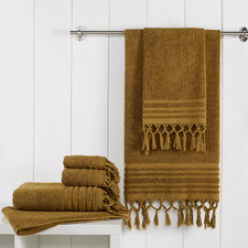 6 Piece Cedar Knotted Byron Turkish Cotton Towel Set