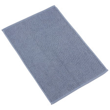 Soft Blue Marlow Textured Turkish Cotton Bath Mat
