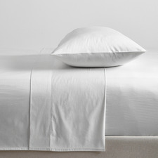 White Bamboo & Cotton Sheet Set