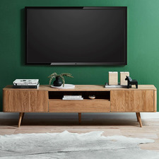 200cm Eden American Oak TV Unit