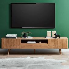 200cm Eden Solid American Oak TV Unit