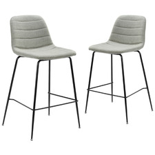66cm Channel Quilted Counter Stools (Set of 2)