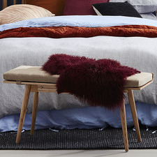 Rollo Ash Wood Bench & Cushion