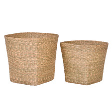 2 Piece Jasper Seagrass Basket Set