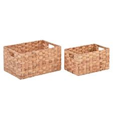 2 Piece Noah Water Hyacinth Basket Set