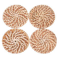 Harpo Rattan Coasters (Set of 4)
