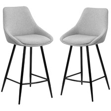 67cm Nappa High Back Bar Stools (Set of 2)